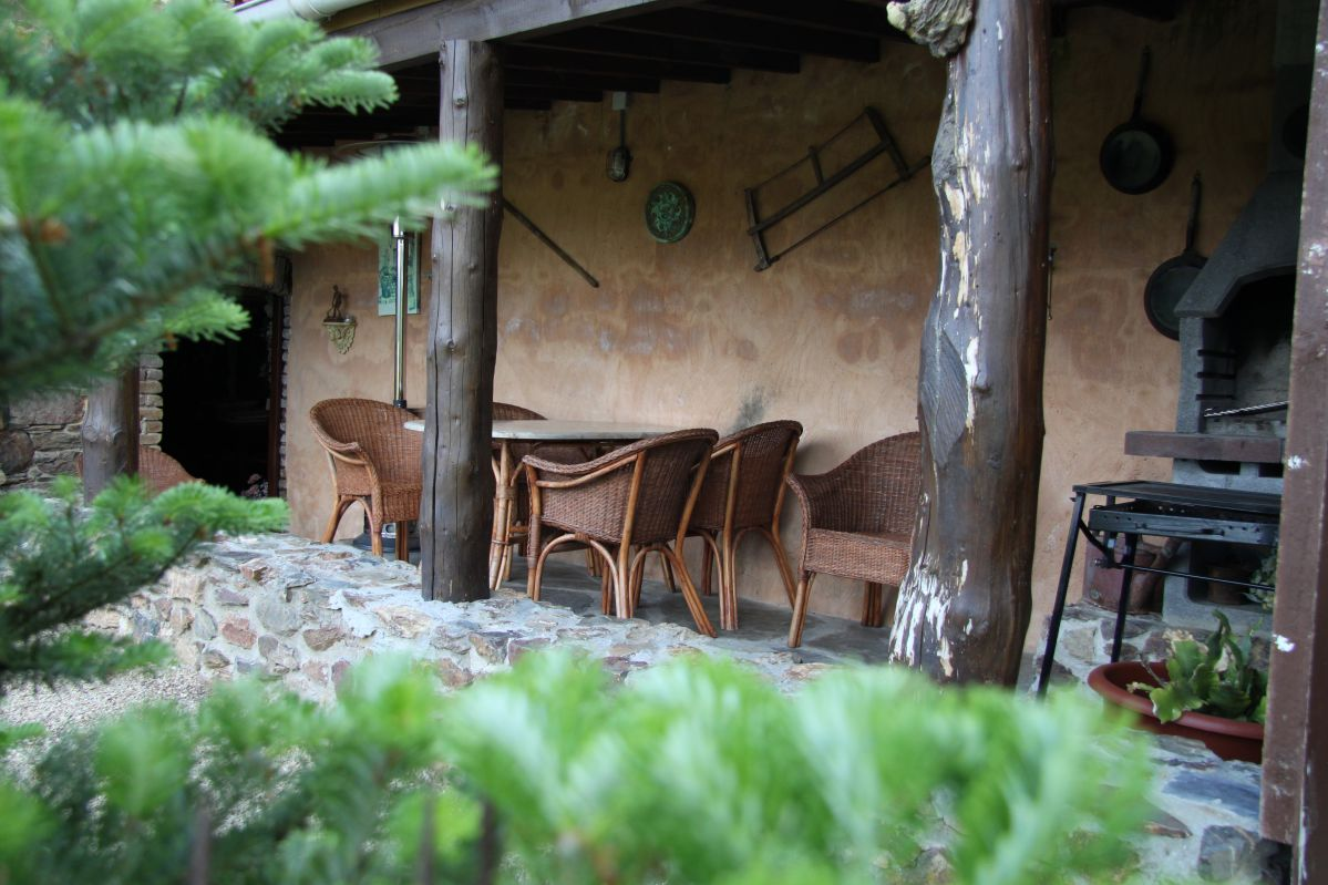 huisje huren Ardennen terras